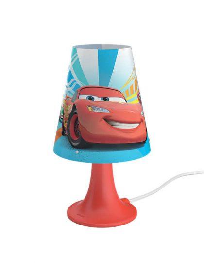 Sobremesa Led Cars ,esta lámpara de Philips y Disney para el dormitorio de tus hijos crea un ambiente que hace que los niños se dejen llevar por aquello de lo que más disfrutan: ¡diversión y creatividad! Un lugar en el que tu hijo puede estudiar, jugar y dormir acompañado de su personaje de Disney favorito. Esta lámpara es totalmente segura para su hijo. Sobremesa Led Cars es ideal para la mesilla de noche o el escritorio. Proporciona una luz blanca, cálida y suave, perfecta para las rutinas antes de acostarse, como leer un libro o contar historias. Siempre a mano y fácil de encender, hace que tu hijo se sienta seguro y cómodo por la noche. Sus medidas son , 14 centímetros de diámetro y 24,4 de altura, lleva Led incorporado luz 3000K, se conecta a la corriente e incorpora un driver en el enchufe de fácil sustitución. Buscas el proyector Cars? Clika aqui Buscas el colgante Cars? Clicka aqui