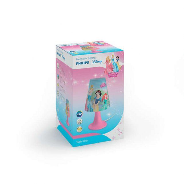 Sobremesa Led Princesas ,esta lámpara de Philips y Disney para el dormitorio de tus hijos crea un ambiente que hace que los niños se dejen llevar por aquello de lo que más disfrutan: ¡diversión y creatividad! Un lugar en el que tu hijo puede estudiar, jugar y dormir acompañado de su personaje de Disney favorito. Esta lámpara es totalmente segura para su hijo. Sobremesa Led Princesas es ideal para la mesilla de noche o el escritorio. Proporciona una luz blanca, cálida y suave, perfecta para las rutinas antes de acostarse, como leer un libro o contar historias. Siempre a mano y fácil de encender, hace que tu hijo se sienta seguro y cómodo por la noche. Sus medidas son , 14 centímetros de diámetro y 24,4 de altura, lleva Led incorporado luz 3000K, se conecta a la corriente e incorpora un driver en el enchufe de fácil sustitución