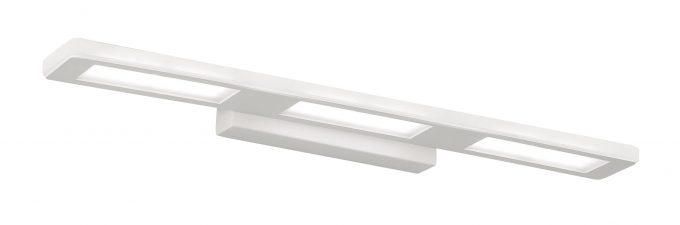 Aplique 9303 Blanco, el material de la luminaria es de chapa de acero, acabado en pintura blanca texturada. Aplique 9303 Blanco, con driver electrónico e iluminación por el frontal, esta fantástica pieza está disponible en dos medidas, para amoldarse a las necesidades de cada cliente y de cada necesidad. El aplique de 12w con dos luces mide 37 ctms de largo y 1 ctms de ancho, confiriéndole a la pieza una presencia muy elegante,sobresale de la pared en total 9,5 ctms y la base para sujetar a la pared mide 20 x 4,5 ctms. El aplique de 18w con tres luces mide 55 ctms de largo y 1 ctms de ancho, confiriéndole a la pieza una presencia muy elegante,sobresale de la pared en total 9,5 ctms y la base para sujetar a la pared mide 20 x 4,5 ctms. Una pieza con un diseño de lineas rectas y básicas, pero con unas muy buenas prestaciones ,con sus 12 y 18 watios depotencia se adaptan perfectamente a cualquier espacio, a un precio mas que razonable, se suministra solo en luz 4000K